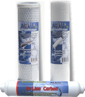 AquaFX 4 stage Drinking Water replacement filters